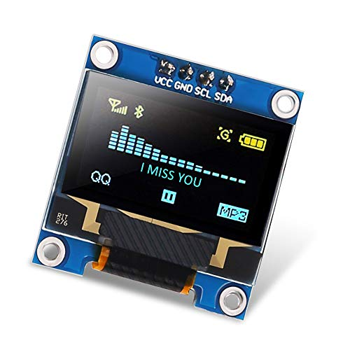 Dorhea 0.96 inch OLED i2c Display Module IIC Serial LCD Screen 0.96