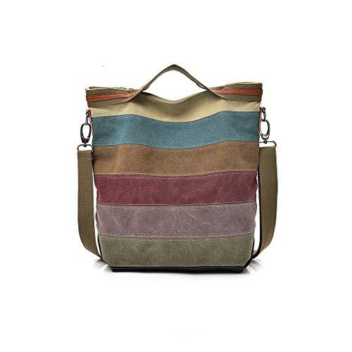 Womens Shoulder Bags Canvas Hobo Handbags Multi-Color Casual Messenger Bag Top Handle Tote Crossbody Bags