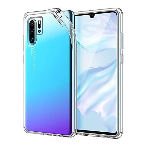 LL TRADER Clear Case Kompatibel mit Huawei P30 Pro und P30 Pro New Edition, 6,4 Zoll Stoßfest Transparent Schutzhülle Anti-Scratch Clear Back mit 3D Galvanotechnik Taste