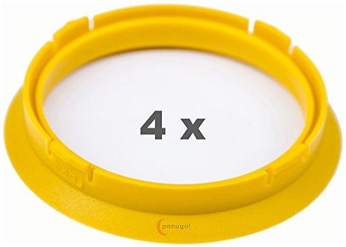 4 x pneugo! Bagues de centrage pour jantes alu 74.1 mm - 65.1 mm