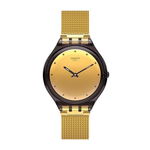 Swatch Skin Skinmoka SVOC100M - Reloj de pulsera para mujer, acero inoxidable, esfera dorada