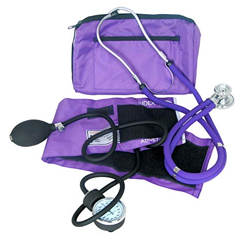 Dixie EMS Blood Pressure and Sprague Stethoscope Kit - Purple