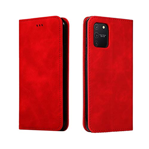 PROTECTIVECOVER+ / for Samsung Galaxy S10 Lite / A91 Retro Siente Siente Business Magnetic Horizontal Flip Funda, Fashion Phone Funda para Protector (Color : Rojo)