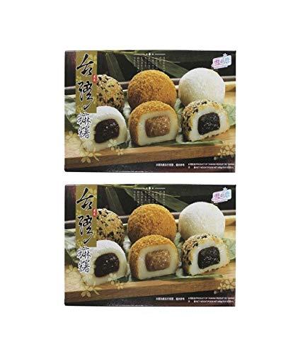 Pamai Pai® Doppelpack: 2 x 450g Mochi versch. Sorten - 15 Reiskuchen Sesam Füllung Erdnuss