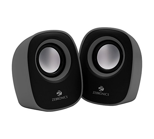 Zebronics Pebble Multimedia Speaker with Volume Control (Gray)