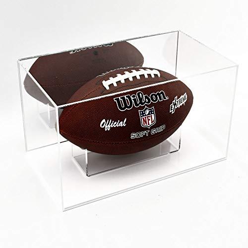 Puffin Plastics American Football Vitrine mit Spiegelrückseite, Weiß