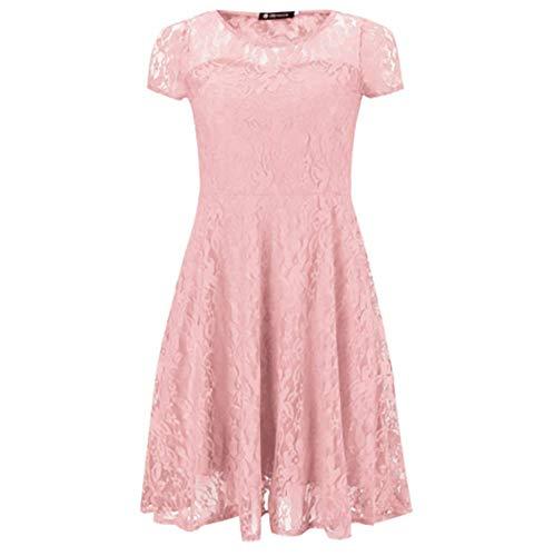 Ovender® - Vestido corto de mujer - Línea elegante / Formal - Ideal para todo tipo de fiestas Jeans S