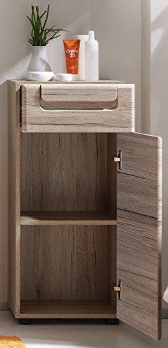 trendteam Armario de baño suspendido Armario para colgar Malea, 37 x 70 x 20 cm en acabado roble claro San Remo con…