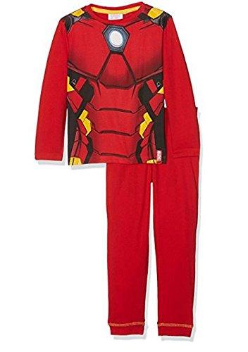 Marvel Avengers, Pijama Niñas, Rojo (Hq2112), 128 cm