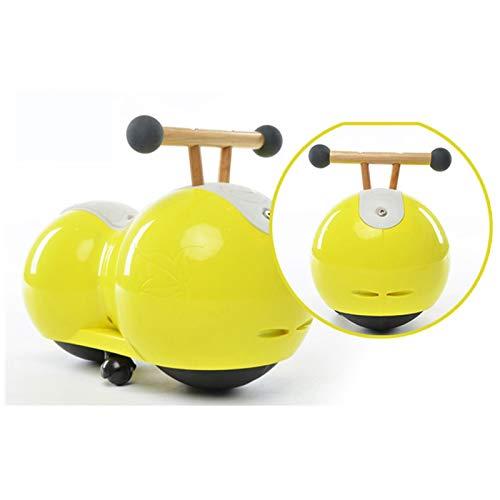 Caminante del bebé, bebé Equilibrio Vespa, 360 ° rotación libre, equipado con estabilizadora auxiliar ruedas, Protejamos a los niños for disfrutar de una niñez feliz, montar a caballo de juguete de re 🔥