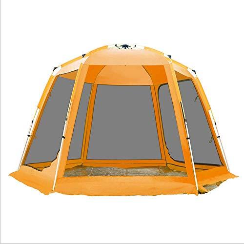 YANYUN Wurfzelt Doppelwandig,Automatische Tragbar Campingzelt Riesiges Faltbare Wasserdicht Belüftung UV Schutz Einfach Aufzubauen Sekundenzelt Für Trekking Outdoor Camping Stran,Orange