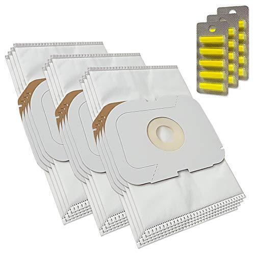 MohMus 12 Bolsas de aspiradora + 15 Ambientadores para Lux Electrolux Intelligence Royal Edition, Typ AP11, Staubcontainer Intelligence