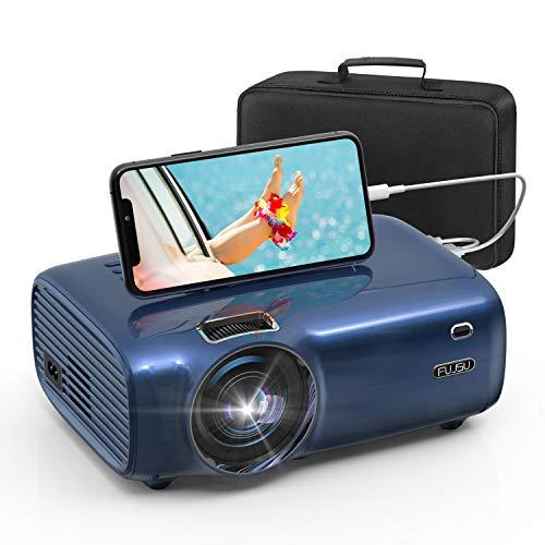 Heimkino Beamer, Mini Beamer mit Smartphone-Synchron Bildschirm Full HD 1080P unterstützt 200