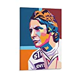TUOXIE F1 Legendary Driver Niki Lauda Poster, dekoratives