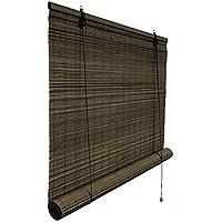 cortinas de exterior bambú para puerta