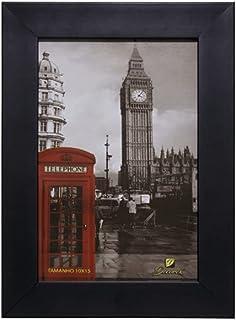 Porta Retrato Para Foto (10x15) Moldura Lisa Preto