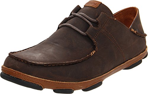 OLUKAI Ohana Lace Up Nubuck Dark Wood/Toffee 10