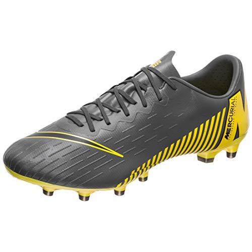 Nike Performance Mercurial Vapor XII Pro AG-Pro Fußballschuh Herren dunkelgrau/gelb, 7 US - 40 EU - 6 UK