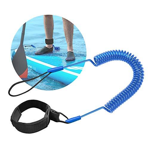 Tusenpy Leash de Tabla de Surf de 10 pies Correa de Surf Cuerda para Pierna, Tabla de Paddle de pie Correa de Tobillo Tabla de Soporte Correa TPU en Espiral Seguridad para el Surf (Azul)