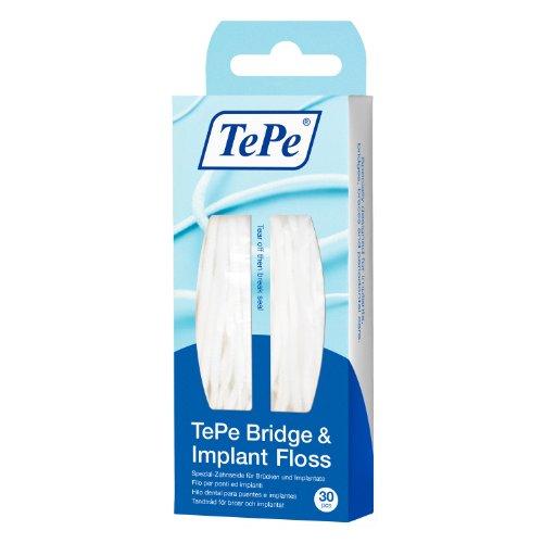 Tepe Zahnseide für Brücken und Implantate, 30 Stück