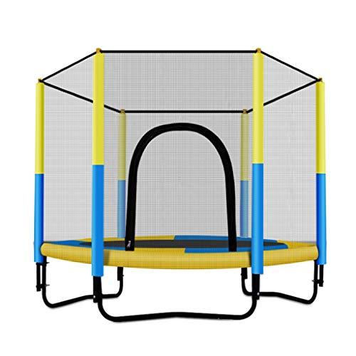 Trampolini Mini Lettino da Rimbalzo for Bambini al Coperto Bambini Rete Protettiva Lettino da Salto Giocattolo for Famiglie, Portata 150 kg (Color : Yellow, Size : 150 * 130cm)