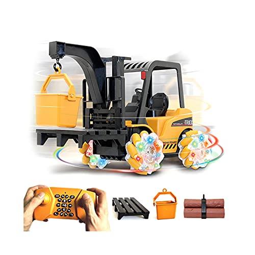FHDD RC Ingeniería Camión 2.4GHz 21 CH Luz y música Deriva Horizontally Aleación de Aleación Remoto Carretilla elevadora Toys Toys