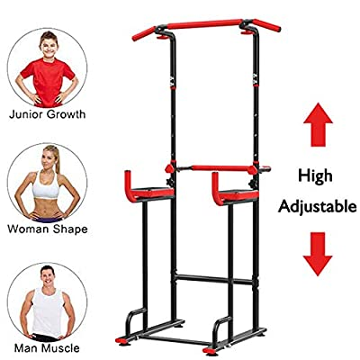 Nollapo Power Tower Pull Up Dip Station Home Workout Equitment Multi-Function Stable Exercise Fitness Strength Training Equipment