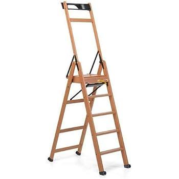 Foppapedretti LaScala 5 Escalera de Cinco peldaños, Compuesto, Nogal: Amazon.es: Bricolaje y herramientas