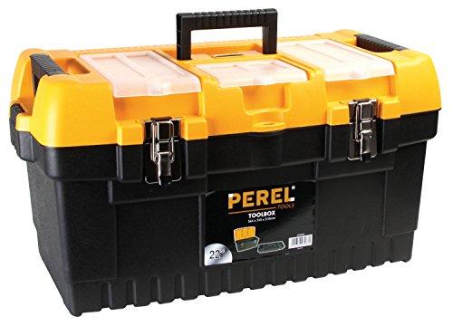 PEREL - OM22M Werkzeugkoffer mit Metallverschlüssen 22 cm 144776