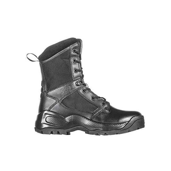 5.11 Women's ATAC 2.0 8″ Tactical Side Zip Military Combat Boot, Style 12403, Black