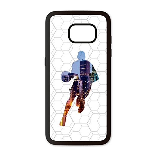 PHONECASES3D Funda móvil Compatible con Samsung Galaxy S7 Edge Baloncesto Jugador. Carcasa de TPUde Alta protección. Funda Antideslizante, Anti choques y caídas.