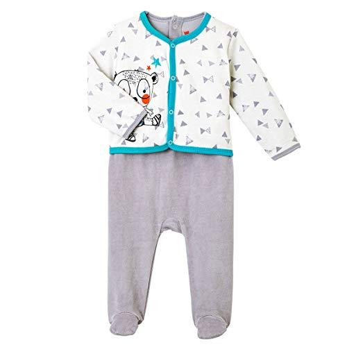 Pyjama bébé velours effet 2 pièces Crazy bear - Taille - 18 mois (86 cm)