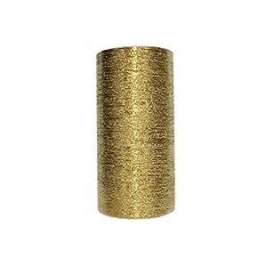 WGV Ceramic Cylinder Vase Width 4″ Height 8″ Elegant Unique Modern Matte Floral Container Planter Pot Centerpiece for Event Party Wedding Office Home Decor, Gold Textured 1 Piece