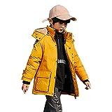 Chaqueta hacia abajo de la mitad de la moda, cálida, cómoda chaqueta con gruesa resistente al desgaste nuevo nuevo puffero abrigo de invierno chaqueta impermeable Parker Chaqueta abajo, amarillo, 170
