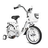 COEWSKE Kid's Bike Steel Frame Children Bicycle 14-16 Inch with Training Wheel(14' White)