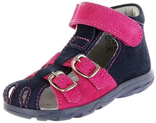 Jela Kinder Lauflerner-Sandalen blau Velourleder Mädchen Schuhe 2111Z-551-7201 Atlantic fuchsiaTerrino, Farbe:blau, Größe:27 EU