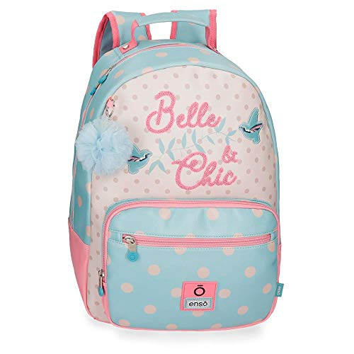 Enso Belle and Chic Mochila Escolar Multicolor 32x42x14 cms PVC 21.12L