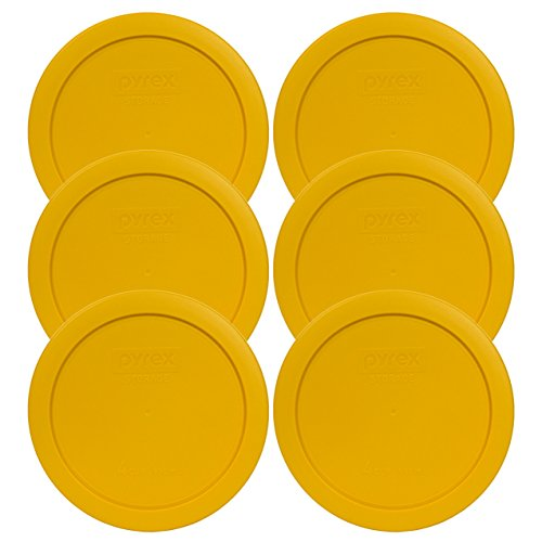 Pyrex 7201-PC Round 4 Cup Storage Lid for Glass Bowls (6, Butter Yellow)
