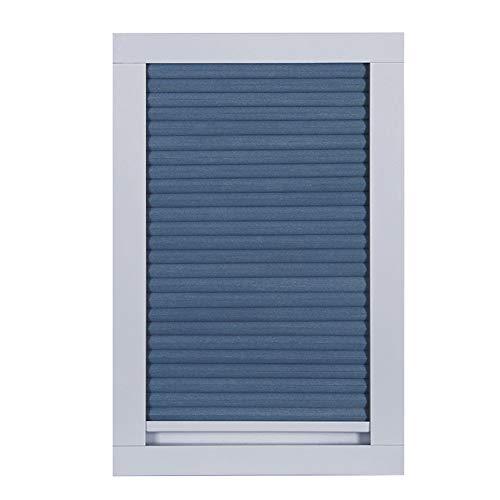 YXX-Wabenplissee Plissee Jalousien Rollo Blau Schnurlose Oberlichtjalousien mit Griff & Zugstange, 100% Raumverdunkelung Zellularer Schatten für Küche, Veranda, Dachfenster und Schlafzimmer