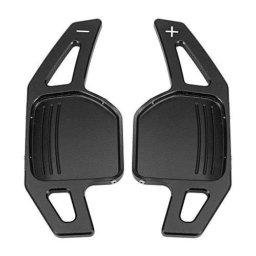X AUTOHAUX Pair Black Car Steering Wheel Shift Paddle Cover Shifter Extension for Audi A3 A4L A5 A6 A7 A8 S5 Q5 Q7