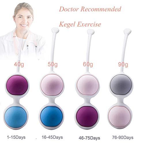 XBYXY Cuatro Colores Kegel Bolas Chinas para Mujer Ejercicio Kegel Control de Vejiga Ben WA Ball Vejiga Msculo Plvico Fortalecimiento Impermeable Silicona Bolas Vaginales