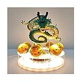 YXX Lámpara de Mesa Dragón Bola Shenron Crystal Ball LED, DIY Night Light Dragon Ball USB Power Shenlong Dragon Ball Super Juguetes Modelo Lampshade