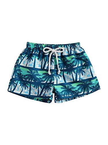 Pantalones Cortos de Natación para Niños Bebés Bermuda de Baño Verano Elástica Bañador de Natación con Estampado de Palmeras y Camuflaje Ropa de Playa para Chicos pequeños