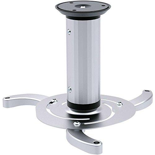 Speaka Professional Projector Beamer-Deckenhalterung Neigbar, Drehbar Boden-/Deckenabstand (max.): 20 cm Silber