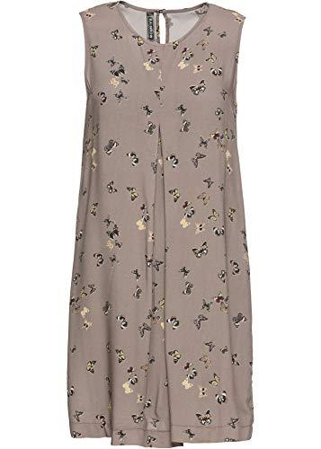bonprix Lockeres Kleid mit Schmetterlingsprint Taupe Bedruckt 42 für Damen