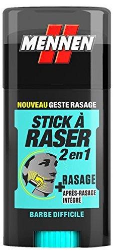 MENNEN - Stick à Raser 2 en 1 Homme - Barbe Difficile - 50 ml