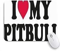 NINEHASA 可愛いマウスパッド Dog Love MyPitbull動物隔離された動物野生動物アメリカンブリードブル犬グラフィックスタッフォードシャー