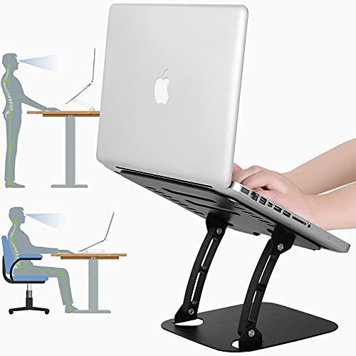 ARNTY Supporto Notebook,Supporto PC Portatile,Supporto Laptop Stand In Alluminio Regolabile Adatto per 10-17  Laptop Notebook Macbook (Nero)