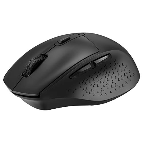 VicTsing Wireless Mouse, Silent Mouse, Ergonomic Mouse with USB Receiver, 6 Buttons and 5 Adjustable DPI, Cordless Mouse for Laptop, Chromebook, MacBook, PC - Black