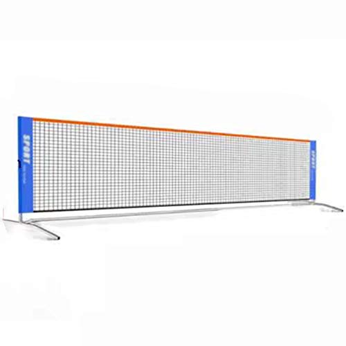 Portable Roll a Net for Tennis or Badminton, with Steady Metal Frame and Durable Carry Bag Tennis Net Set, Easy & Quick Setup Assembly Nylon Sports Net